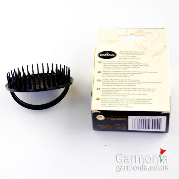 Denman D6 Black - be-bop massage brush. Щетка шампунирования для мужчин.