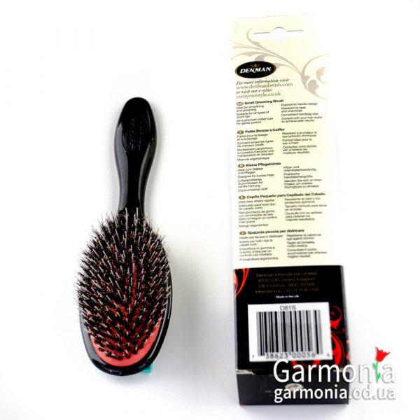 Denman D81S - Small porcupine-style grooming brush.Малая щетка с нейлоновыми зубцами и натуральной щетиной.Еж стиль.