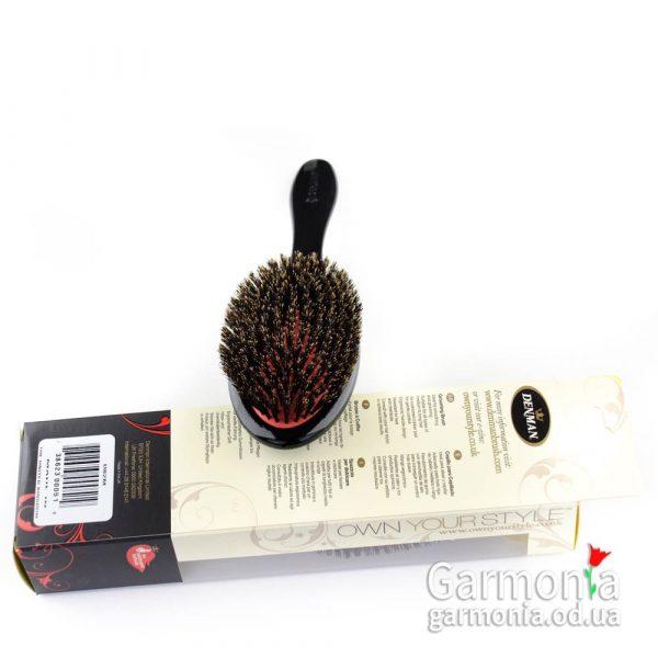 Denman D82M - Medium 100% boar bristle grooming brush.Средняя щетка с щетиной дикого кабана.