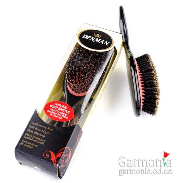 Denman D82S - Small 100% boar bristle grooming brush.Малая щетка с натуральной щетиной дикого кабана.