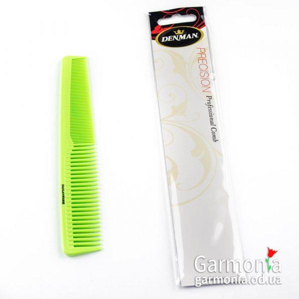 Denman DPC5GRN - Lime green precision waver comb. Комбинированный гребень.зеленый