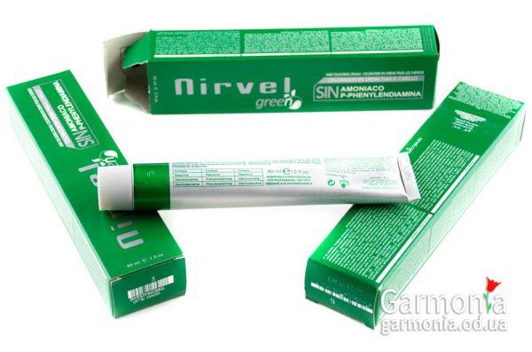 Nirvel green - Перманентный краситель без аммиака  Объем: 60 мл