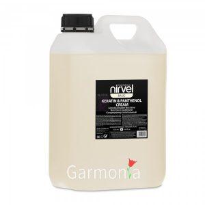 Nirvel keratin  panthenol cream / Кондиционер питательный с кератином и пантенолом для сухих, ломких и поврежденных волос .  Объем:5000 мл